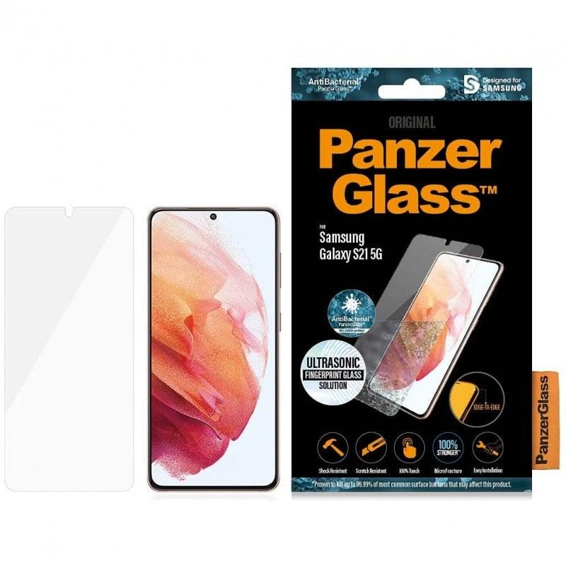 PanzerGlass Protector Pantalla Antibacteriano Negro para Samsung Galaxy S21 5G
