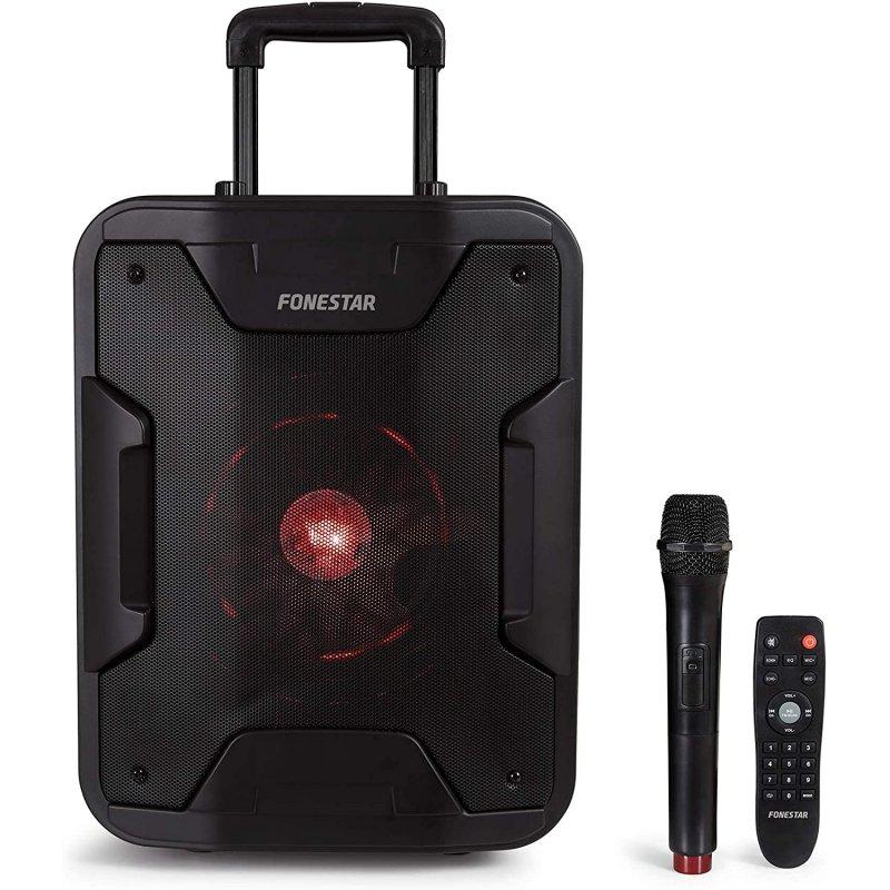 Fonestar California Altavoz Bluetooth con Karaoke y Micrófono 200W Negro