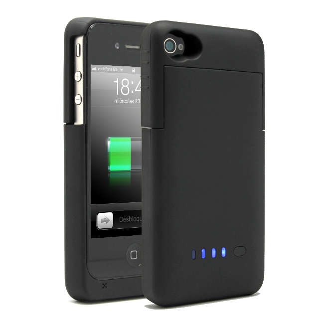 41297a5eb28 Funda+Batería Negra para iPhone 4/4S |PcComponentes