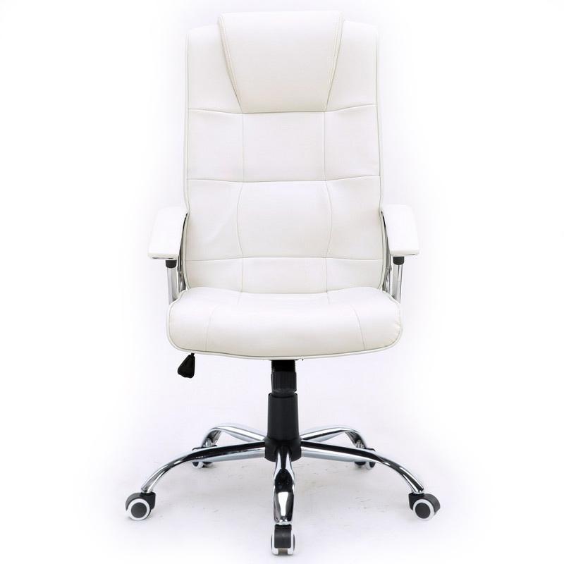 Silla de oficina stanford blanca for Sillas de piel blancas