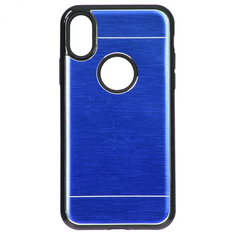 Funda Metalizada Doble Azul IPhone XS Max