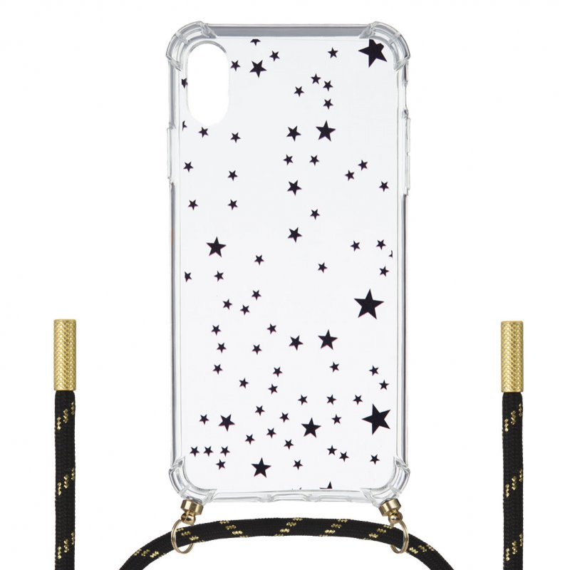 Funda Silicona Colgante Estrellas Para IPhone XS Max
