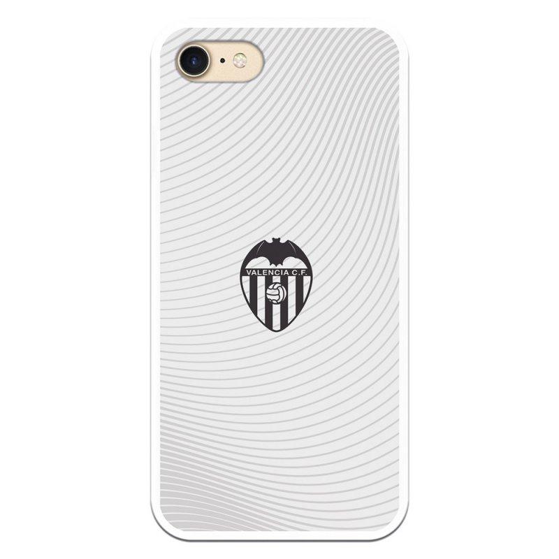 Funda Oficial del Valencia CF Escudo Negro Fondo Blanco Licencia Oficial del Valencia CF para iPhone 7/iPhone 8