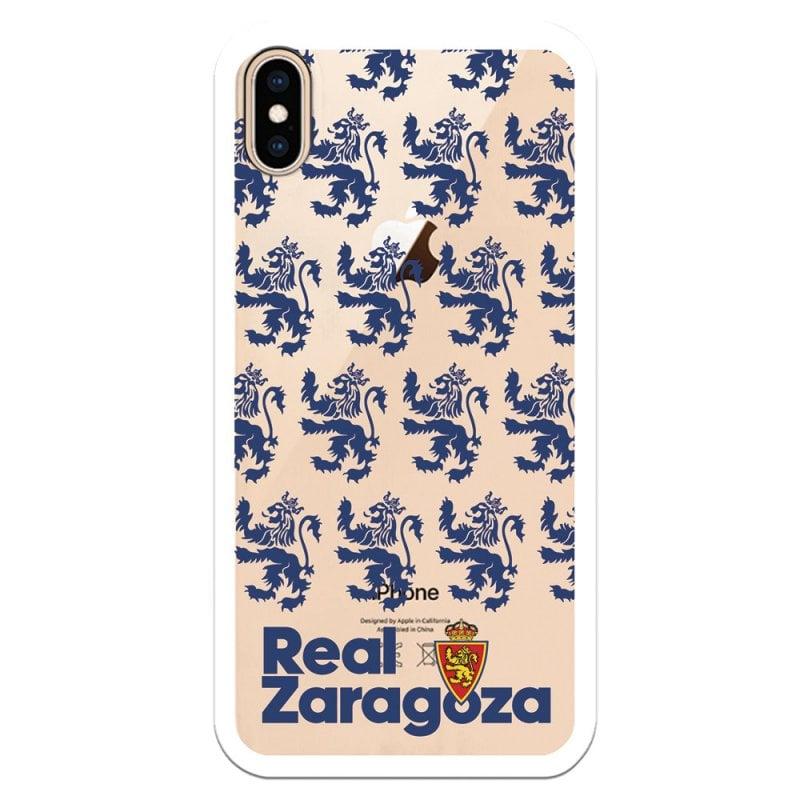 Funda Oficial Real Zaragoza Del Zaragoza Patrón Transparente Para IPhone XS Max