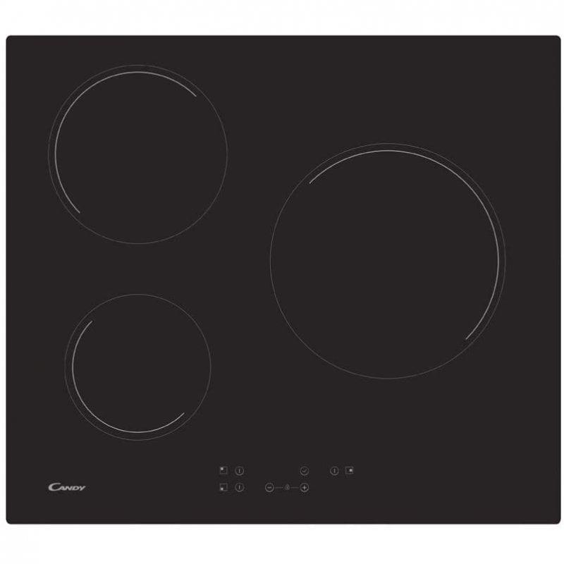 Candy CH63CT Placa Vitrocerámica 3 Zonas 60cm Negra