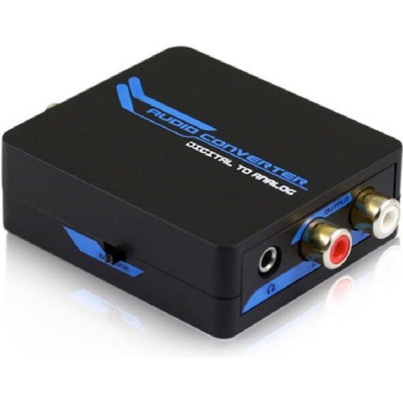 DCU Convertidor Digital Toslink A Analógico RCA/Jack 3.5
