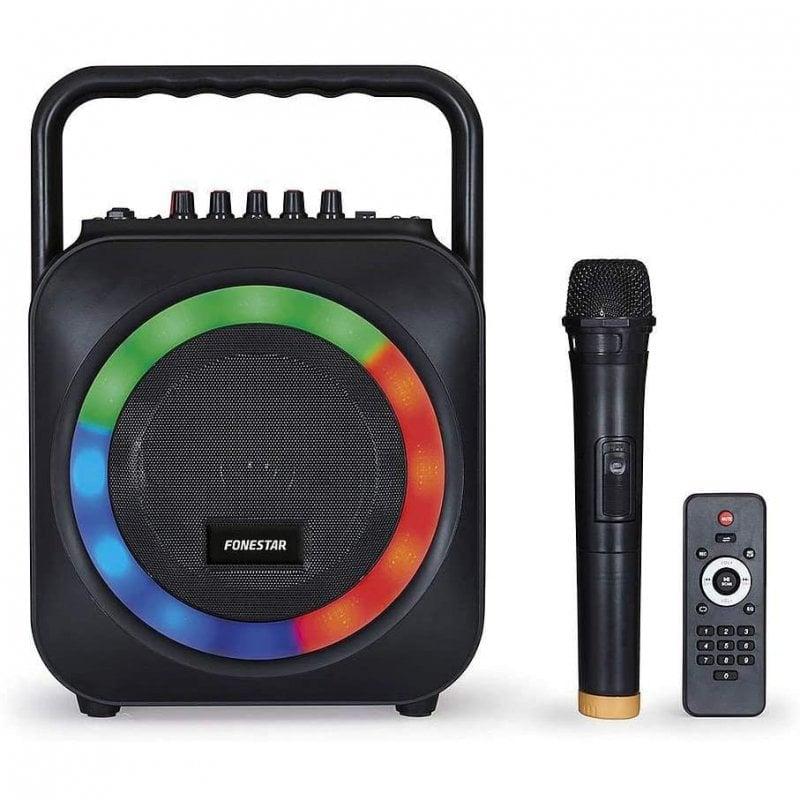 Fonestar BOX-35LED Altavoz Bluetooth con Karaoke 35W Negro