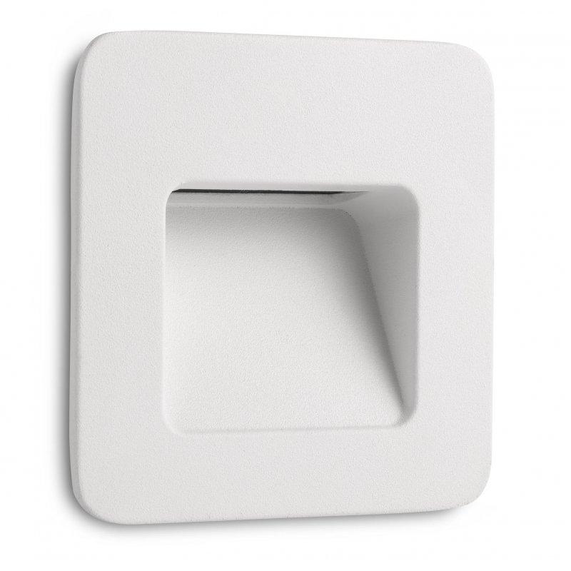 Faro Nase-1 Foco LED Empotrable De Pared 3W Blanco Cálido
