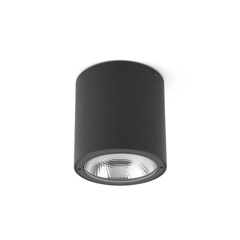 Faro Goz LED Lámpara Plafón De Techo Exterior Gris Oscuro