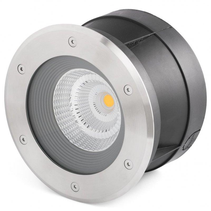 Faro Suria Foco Empotrable De Suelo LED 24W Inox/Negro