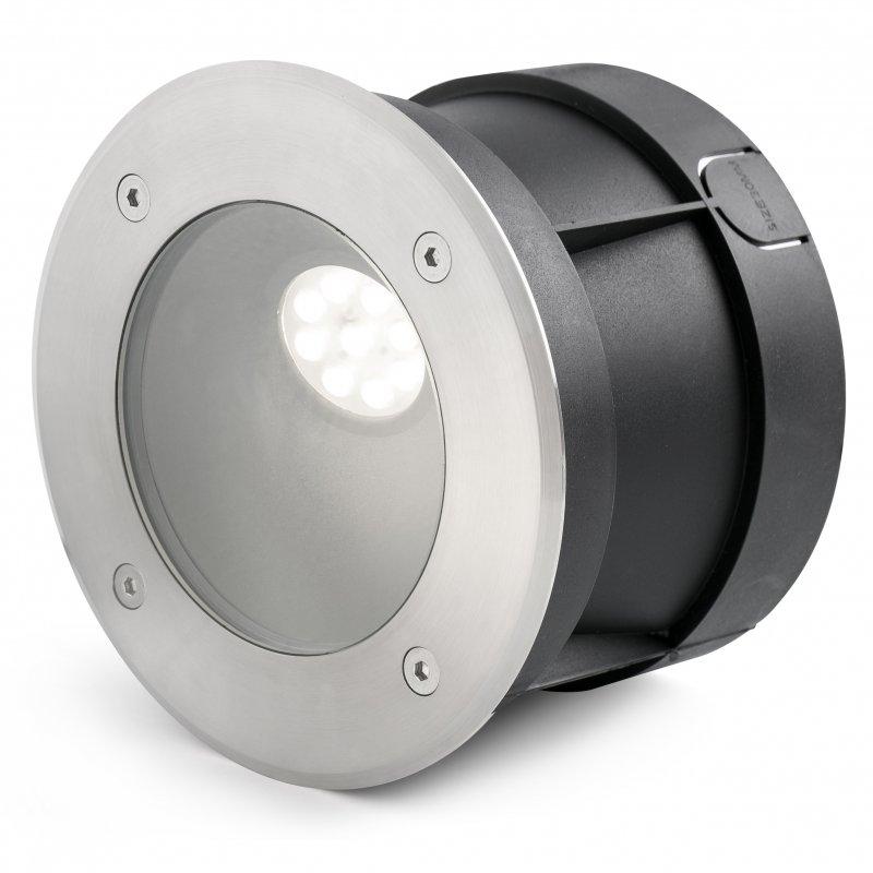 Faro Salt Foco LED Empotrable De Suelo 9W Plata