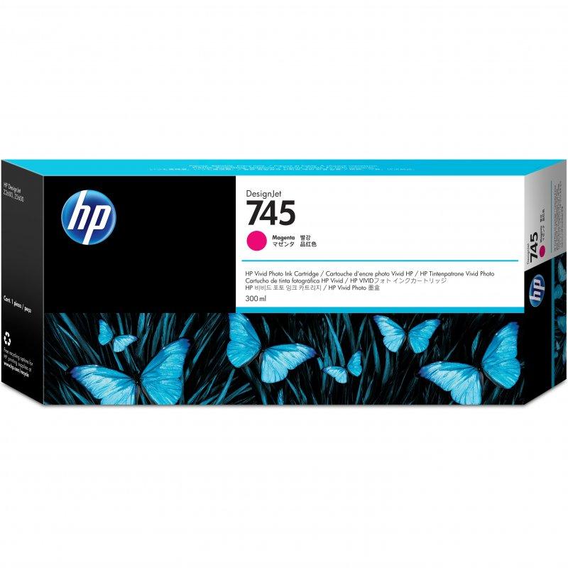 HP 745 Cartucho de Tinta Original Alto Rendimiento Magenta