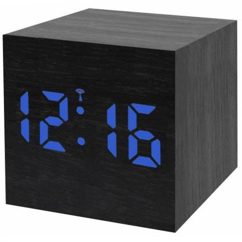 Bresser MyTime WAC Radio Despertador LED Negro/Azul