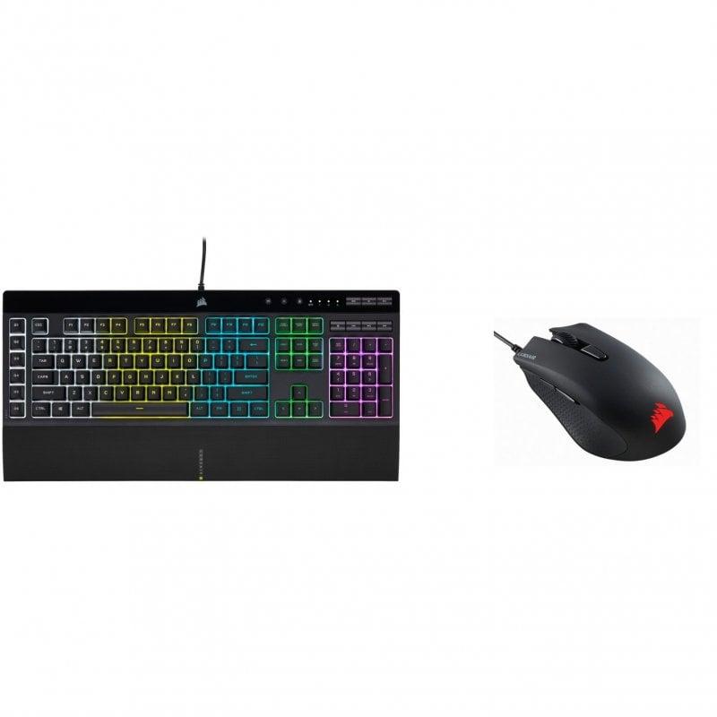Corsair K55 RGB PRO Teclado Gaming Retroiluminado Negro + Harpoon RGB Pro Ratón Gaming 12000DPI
