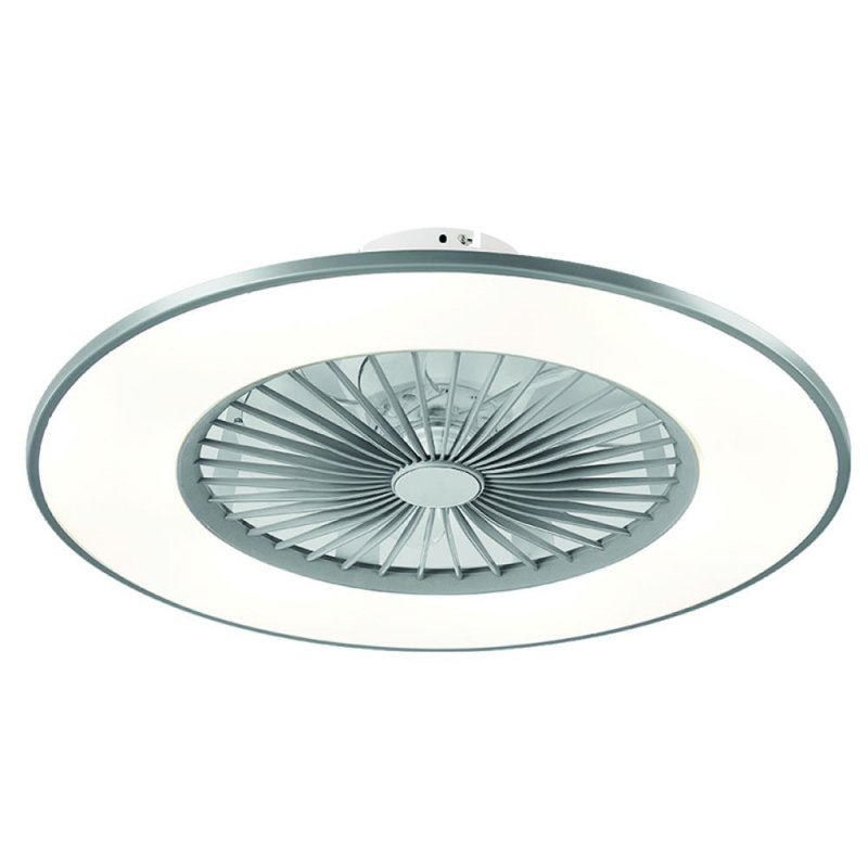 Fabrilamp Bofu Ventilador De Techo Con Luz LED Y Mando 26W Plata