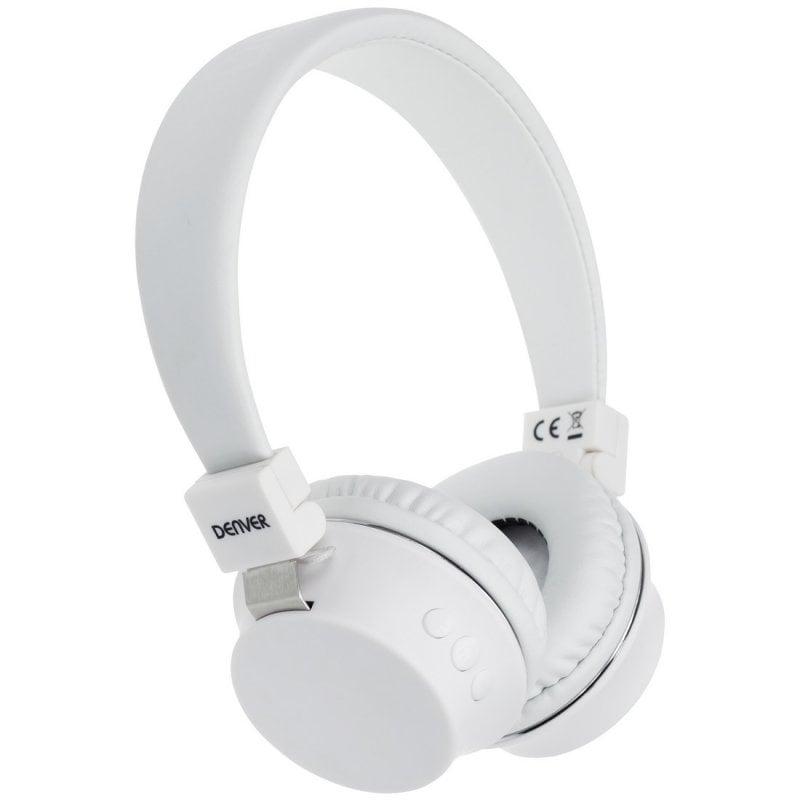 Denver BTH-205 Auriculares Bluetooth Blancos