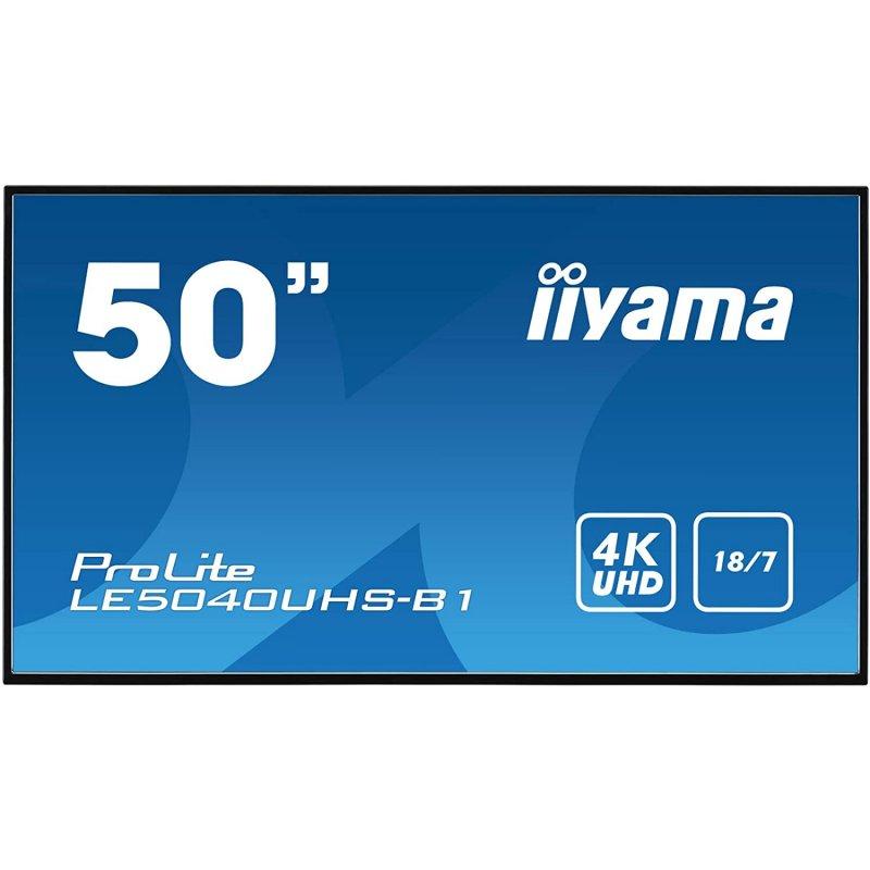 "Iiyama LE5040UHS-B1 Pantalla De Señalización LED 50"" UltraHD 4K"