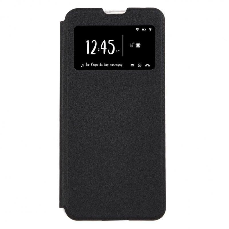 Funda Libro Negra Para Xiaomi Redmi Note 9