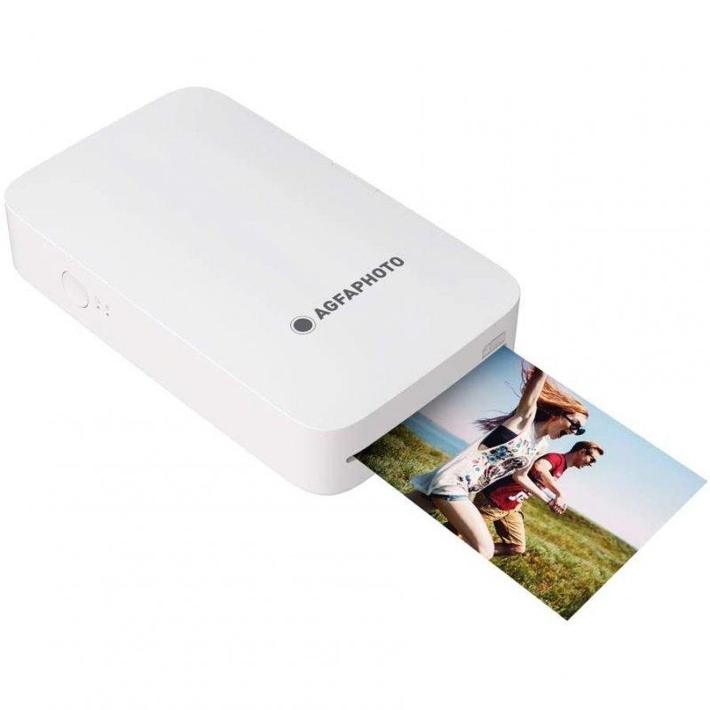 AgfaPhoto Realipix Mini P Impresora De Fotos Bluetooth Blanca