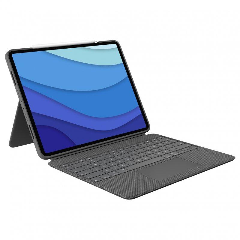 "Logitech Combo Touch Funda Con Teclado Gris Para IPad Pro 12.9"" (5º Gen)"