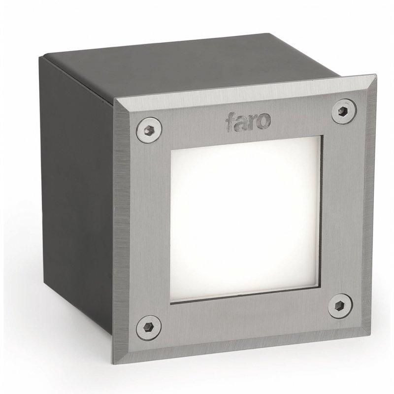 Faro LED-18 Foco Empotrable De Pared/Suelo LED 3W Negro