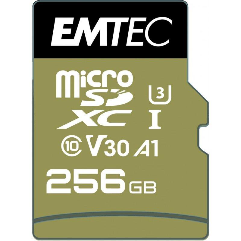 Emtec Speedin Pro MicroSDXC 256GB Clase 10 U3 V30 UHS-I + Adaptador SD