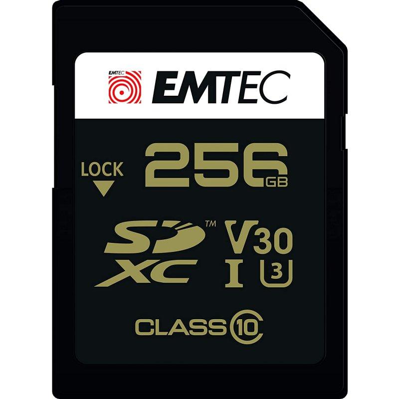 Emtec Speedin Pro SDXC 256GB Clase 10 U3 V30 UHS-I