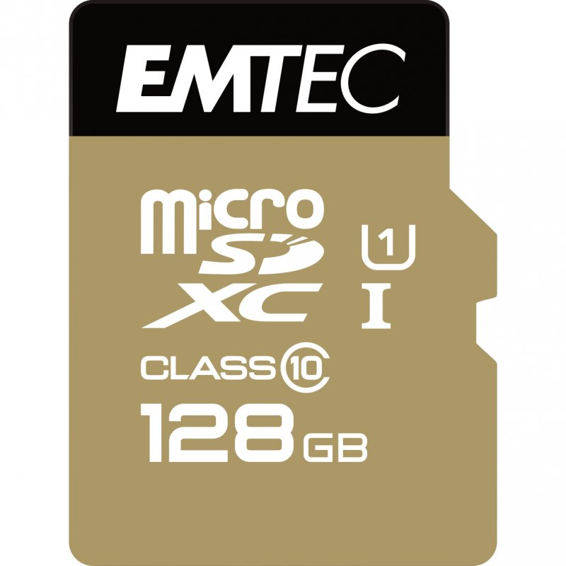 Emtec Elite Gold Memoria MicroSDXC 128GB UHS-I Clase 10 + Adaptador SD