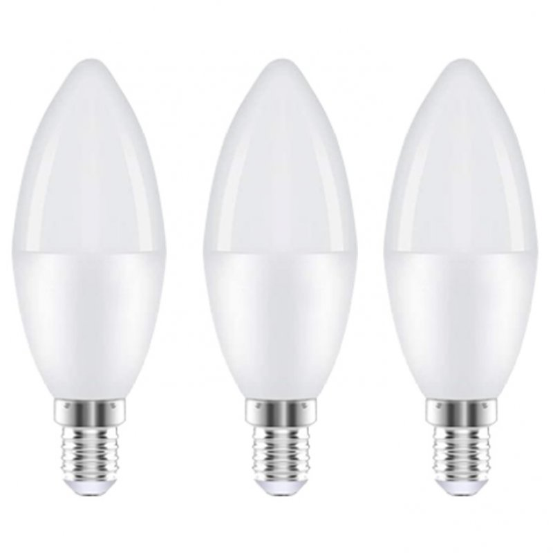 Extrastar Pack 3 Bombillas Vela LED E14 6WBlanco Frío