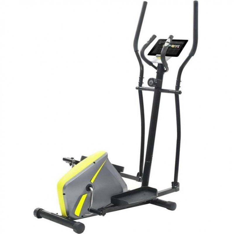 VidaXL Bicicleta Elíptica Magnética Con Pulsómetro Gris/Amarillo