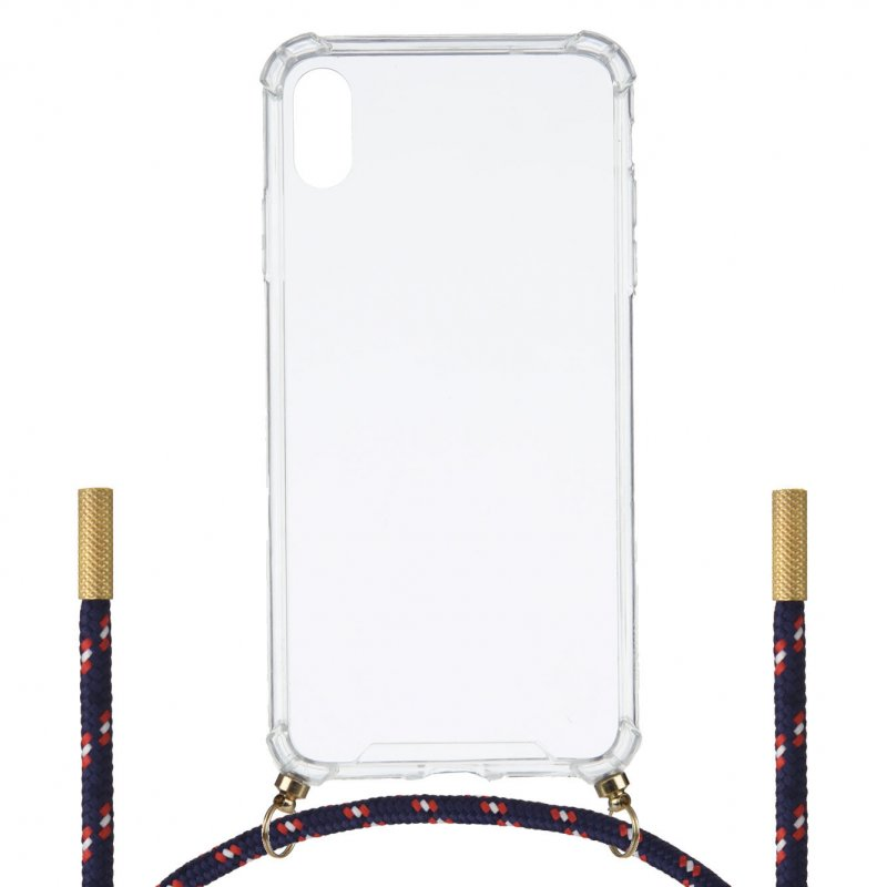 Funda Silicona Colgante Transparente Tricolor Para IPhone XR