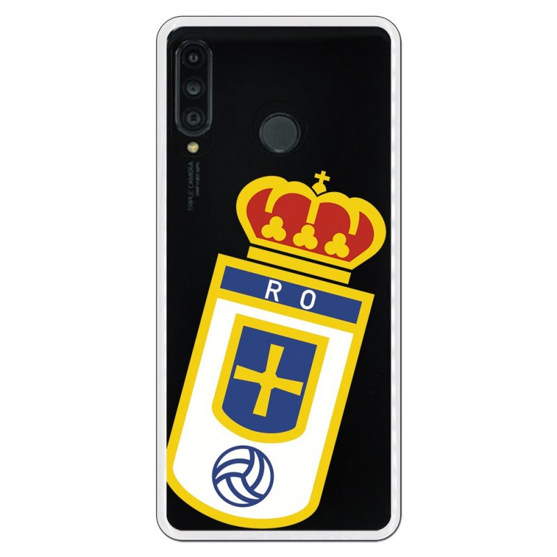 Funda Oficial Real Oviedo Escudo Transparente Para Huawei P30 Lite