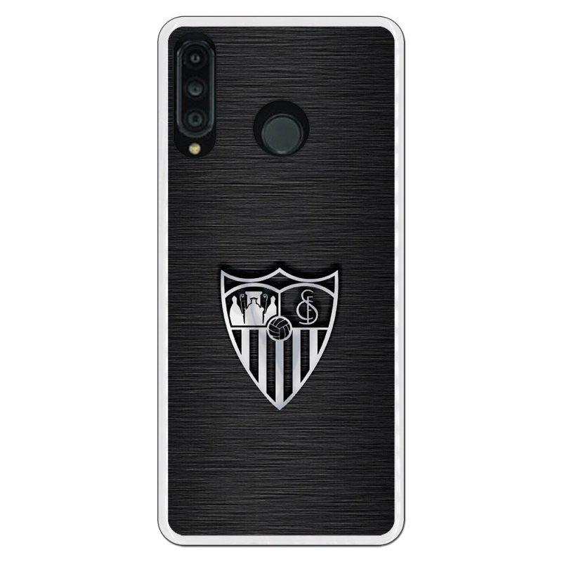 Funda Oficial Sevilla Escudo Plata para Huawei P30 Lite