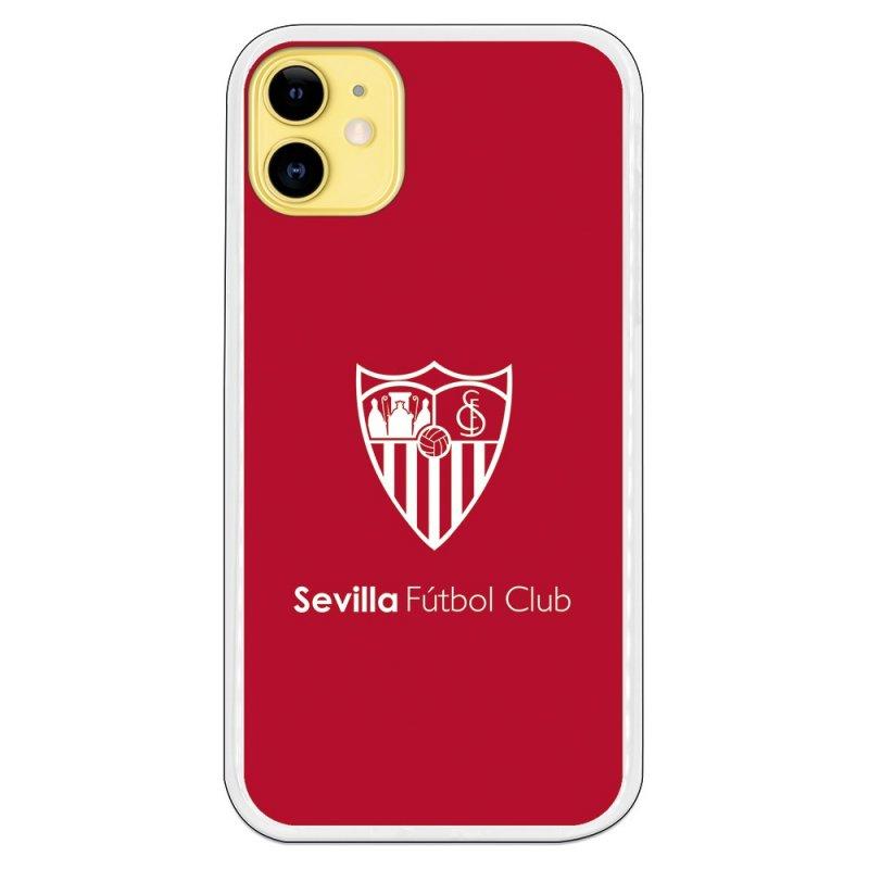 Funda Licencia Oficial Sevilla FC Monocromo Fondo Rojo Para IPhone 11