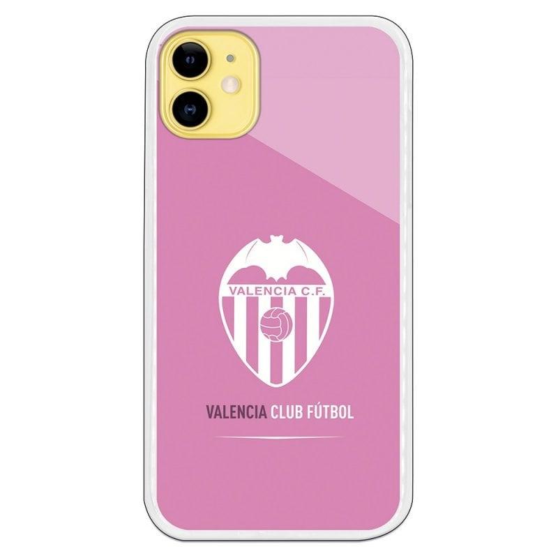Funda Licencia Oficial Valencia CF Escudo Rosa Licen Para IPhone 11