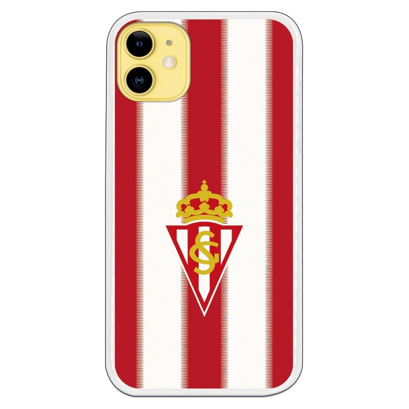 Funda Licencia Oficial Real Sporting De Gijón Fondo Rojiblanco Para IPhone 11