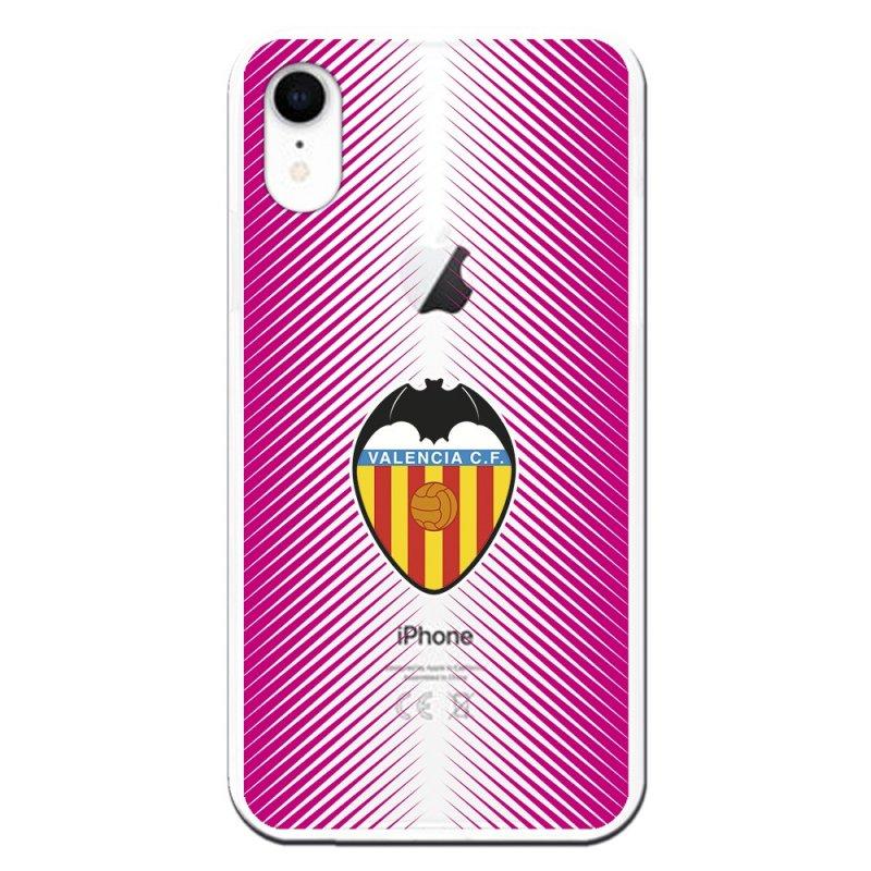Funda Licencia Oficial Valencia CF Fondo Rosa Clear Para IPhone XR