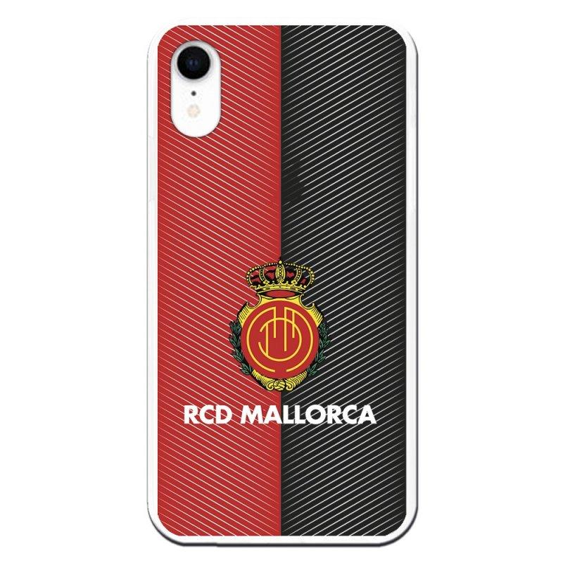 Funda Licencia Oficial RCD Mallorca Diagonales Transparente para iPhone XR