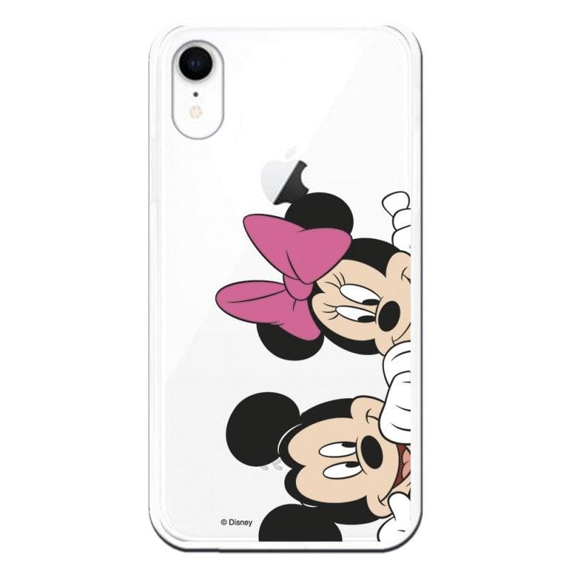 Funda Oficial Clásicos de Disney Mickey y Minnie Asomados para iPhone XR
