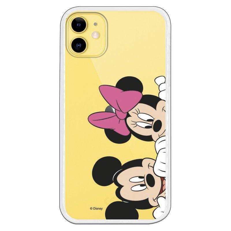 Funda Oficial de Disney Mickey y Minnie Asomados Clásicos Disney para iPhone 11