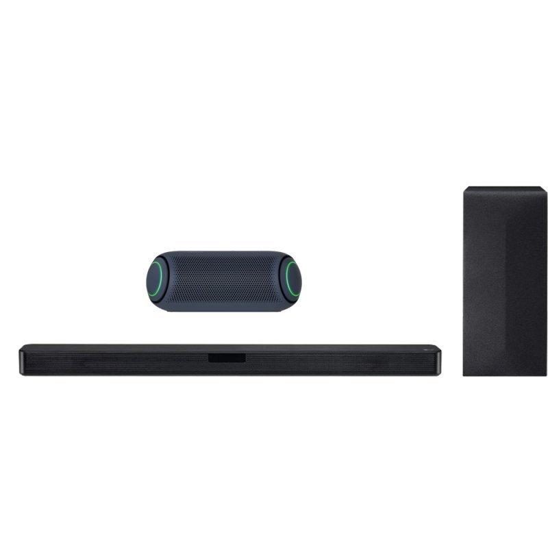 LG Pack SN4R Barra de Sonido Bluetooth 300W Negra + XBOOM Go PL5 Altavoz Inalámbrico 20W