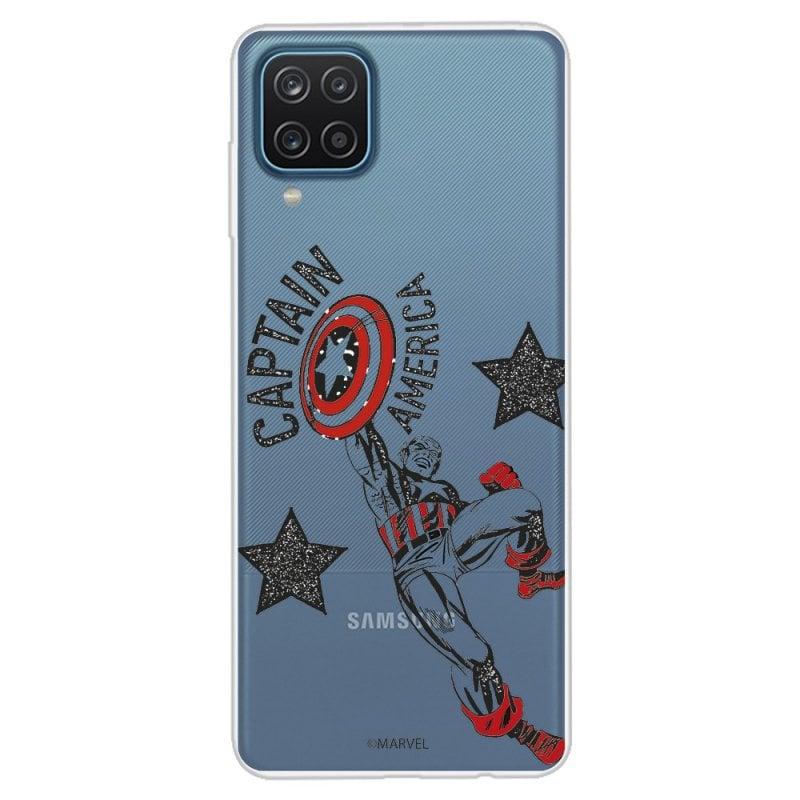 Funda Oficial de Marvel Capitán América Red Transparente para Samsung Galaxy A12