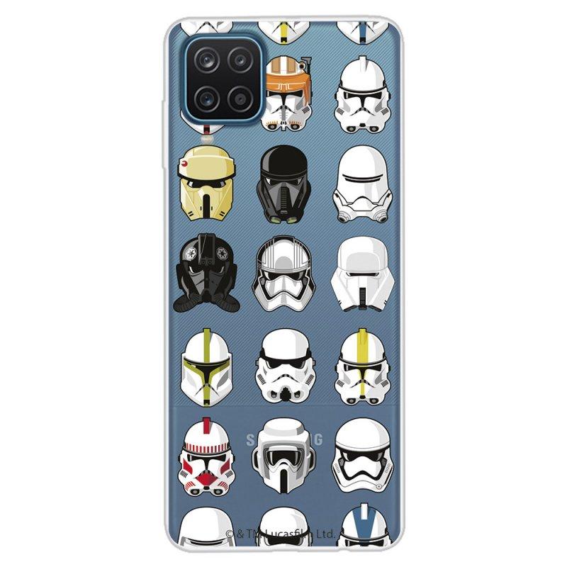Funda Oficial de Star Wars Patrón Cascos para Samsung Galaxy A12