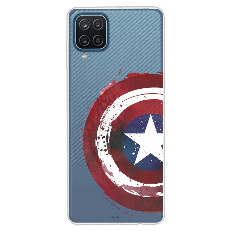Funda Oficial de Marvel Capitán América Escudo Transparente para Samsung Galaxy A12