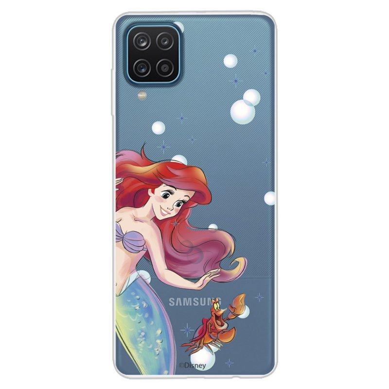 Funda Oficial de Disney Ariel y Sebastián Burbujas La Sirenita para Samsung Galaxy A12
