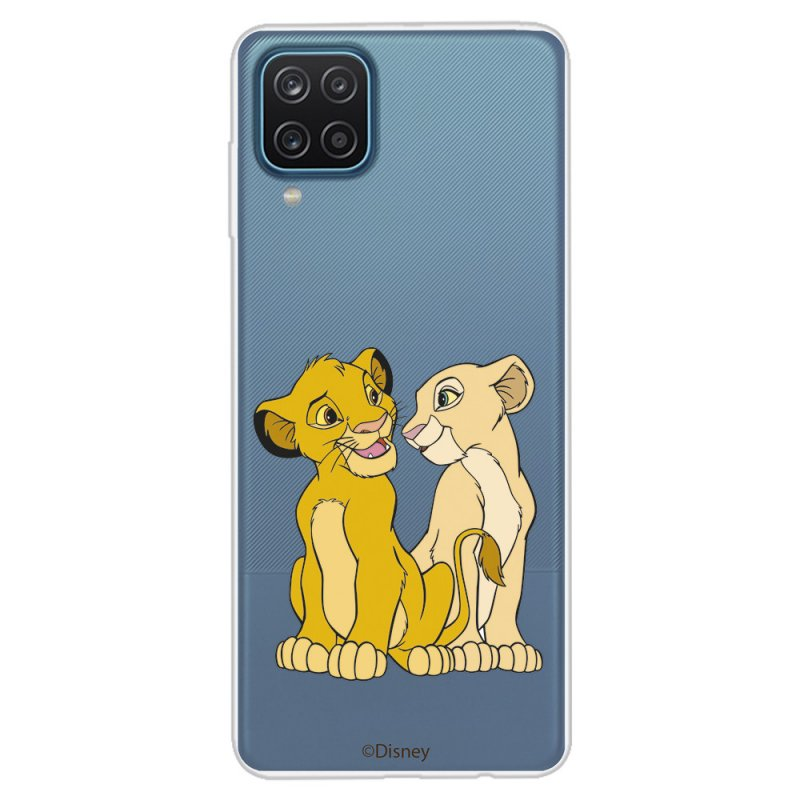Funda Oficial de Disney Simba y Nala Silueta El Rey León para Samsung Galaxy A12