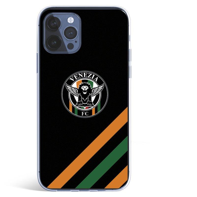 Funda Licencia Oficial Venezia Football Escudo Fondo Negro Para IPhone 12