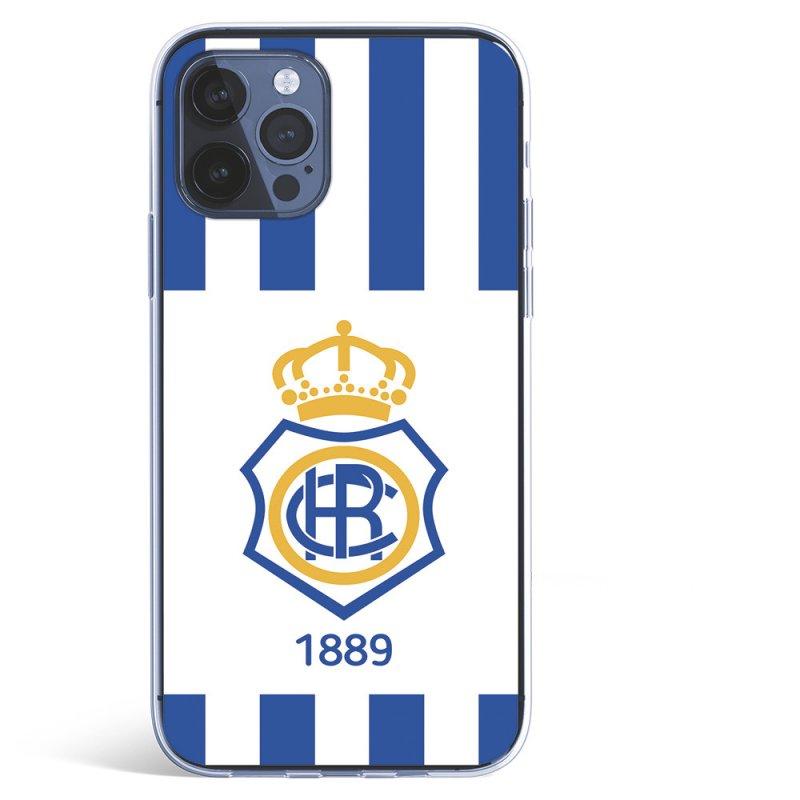 Funda Licencia Oficial Real Club Recreativo De Huelva Escudo 1889 Para IPhone 12