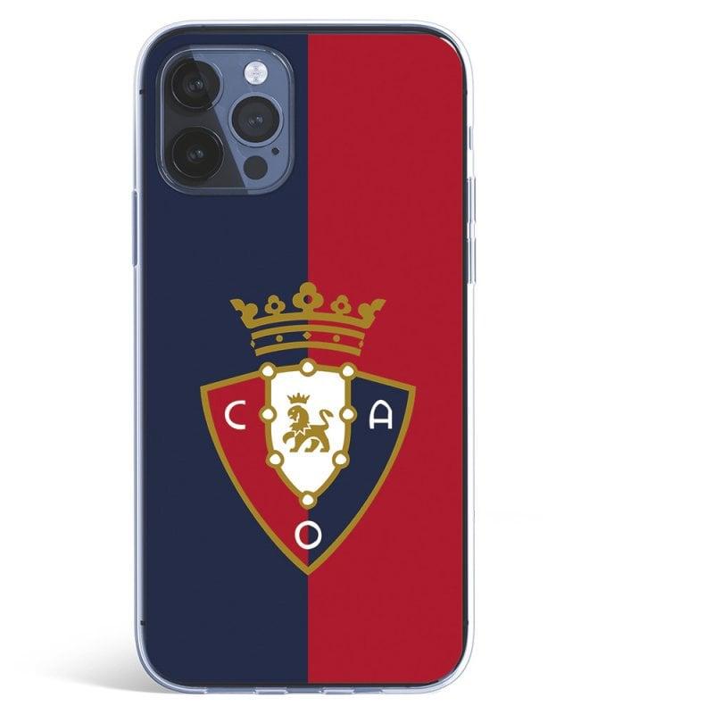 Funda para del Osasuna Escudo Fondo Bicolor Licencia Oficial CA Osasuna iPhone 12