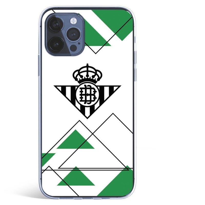 Funda del Betis Escudo Negro fondo Verdiblanco Licencia Oficial Real Betis Balompié para iPhone 12